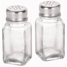 "4"" Glass Salt and Pepper Shakers"