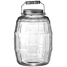 2.5 Gal Glass Barrel Jar