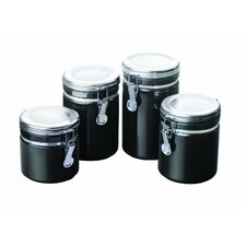 4 Piece Ceramic Canister Set