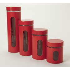 Palladian Stainless Steel Window Jars (Set of 4)