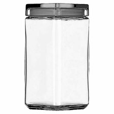 2-qt Stackable Glass Jar with Glass Lid