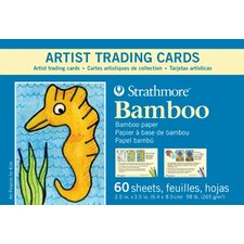 Bamboo Artist Trading Cards For Kids (Set of 60)