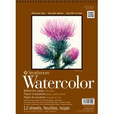 <strong>Strathmore</strong> 400 Series Cold Press Wire Bound Watercolor Pad