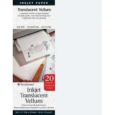 Inkjet Printable Translucent Vellum (Set of 20)