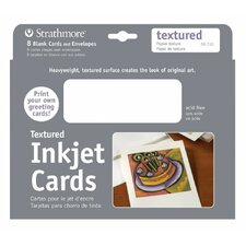Textured Inkjet Cards (Set of 8)