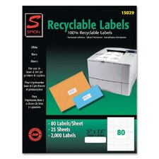 Recyclable Return Address Labels (2,000 Pack)