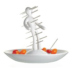 Skewer Set with Unique Holder and Tray
