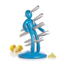 The Ex 2nd Edition Five Piece Knife Set with Holder in Blue (Set of 5)
