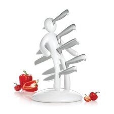 <strong>The EX By Raffaele Iannello</strong> The Ex 2nd Edition Five Piece Knife Set with Holder in White (Set of 5)