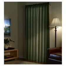 Velvet Cotton Rod Pocket Curtain Single Panel