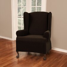 Cobblestone Wing Chair Slipcover