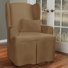 Canvas Wing Chair Slipcover