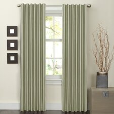Faux Silk Rod Pocket Curtain Panel Pair