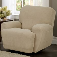 <strong>Maytex</strong> Reeves Stretch Four Piece Recliner T-Cushion Slipcover