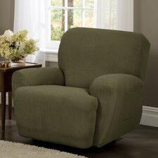 Reeves Stretch Four Piece Recliner T-Cushion Slipcover