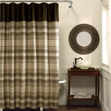 Blake Polyester Fabric Chenille Shower Curtain