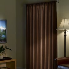 Faux Suede Rod Pocket Curtain Single Panel