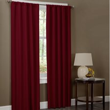<strong>Maytex</strong> Microfiber Rod Pocket Curtain Panel Pair