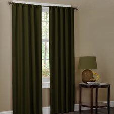Microfiber Rod Pocket Curtain Panel Pair