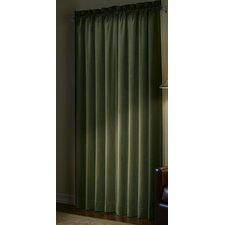 <strong>Maytex</strong> Velvet Cotton Rod Pocket Curtain Single Panel