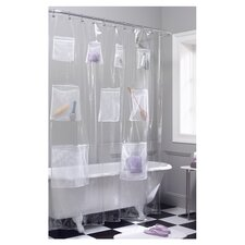 <strong>Maytex</strong> Mesh Pockets Vinyl Shower Curtain