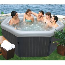 6-Person 135-Jet Inflatable Bubble Spa