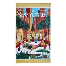 Condé Nast New Yorker Rooftop Girl Beach Towel