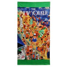 Conde Nast Crowded Coney Island Beach Towel