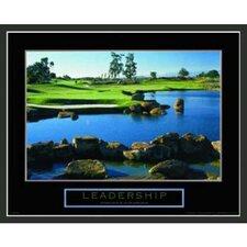 Golf Motivational Leadership Framed Photographic Print