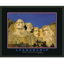 Mount Rushmore Motivational Leadership Framed Photographic Print
