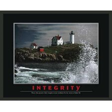 Motivational Integrity Framed Photographic Print