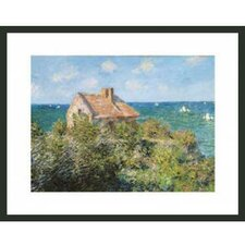 'Cottage on the Cliffs at Varengeville' by Monet Framed Painting Print
