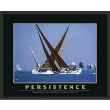 Sailboat Motivational Persistence Framed Photographic Print