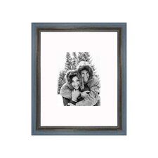 """16"""" x 20"""" Rustic Wire Brush Frame in Grey/Blue"""