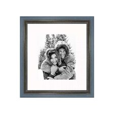 "20"" x 24"" Rustic Wire Brush Frame in Grey/Blue"
