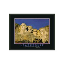"Mount Rushmore Motivational Framed Leadership Print - 22"" x 28"""