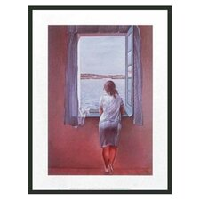 "Figure at Window by Dali Framed Print - 24"" x 18"""