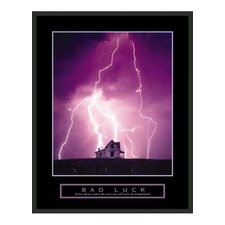 "<strong>Frames By Mail</strong> Motivational Framed Bad Luck Print - 28"" x 22"""