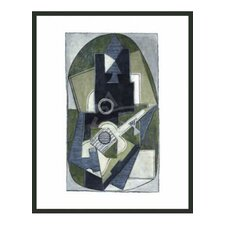 'L'Homme a la Guitare' by Picasso Framed Painting Print