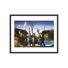 "<strong>Frames By Mail</strong> Swans Reflecting Elephants by Dali Framed Print - 11"" x 14"""