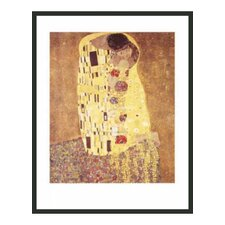 'The Kiss' by Klimt Framed Painting Print