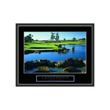 "<strong>Frames By Mail</strong> Golf Motivational Framed Leadership Print - 22"" x 28"""