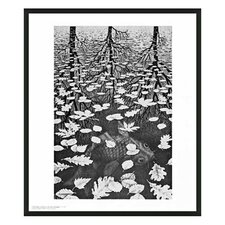 "<strong>Frames By Mail</strong> Three Worlds by Escher Framed Print - 25.5"" x 21.5"""