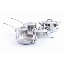 <strong>Mauviel</strong> M'Cook 5-Ply Stainless Steel 9-Piece Cookware Set