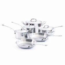 <strong>Mauviel</strong> M'Cook Stainless Steel 10-Piece Cookware Set
