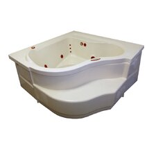 "60"" x 60"" Soaker Deep Corner Bathtub"