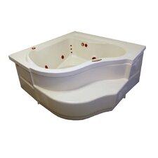 "60"" x 60"" Soaker Deep Corner Bathtub"