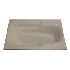 "60"" x 36"" Soaker Arm-Rest Bathtub"