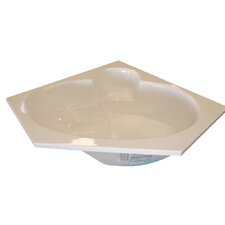 "60"" x 60"" Corner Soaker Bathtub"