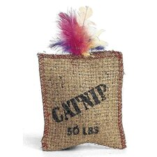 Jute/Feather Sack Cat Toy